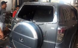Mobil Caleg PDIP Dibakar Oleh Orang Tak Dikenal Di Sleman