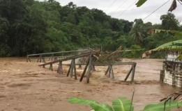 Jembatan Putus di Kabupaten Empat Lawang Sumsel Akibat Arus Sungai